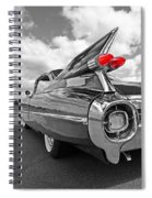 1959 Cadillac Tail Fins Spiral Notebook
