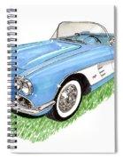 1959 Corvette Frost Blue Spiral Notebook