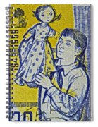 1959 Czechoslovakia Stamp Spiral Notebook