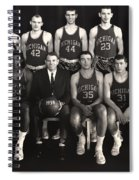 1959 University Of Michigan Basketball Team Photo Spiral Notebook