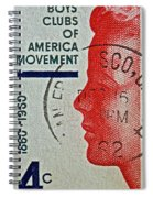 1960 Boys' Clubs Of America Movement Stamp Spiral Notebook