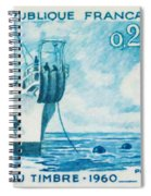 1960 Day Stamp Installation Of A Submarine Cable Spiral Notebook