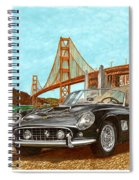 1960 Ferrari 250 California G T Spiral Notebook