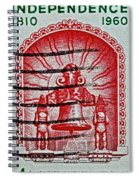 1960 Mexican Independence Stamp Spiral Notebook
