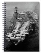 1960s Aerial Of Uss Saratoga Aircraft Spiral Notebook