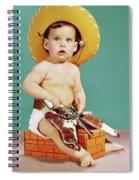 1960s Baby Wearing Cowboy Hat Spiral Notebook