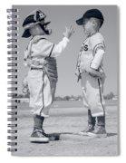1960s Boy Little Leaguer Pitcher Spiral Notebook