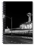 1960s Night Scene Of The Stardust Spiral Notebook
