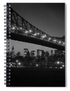1960s Queensboro Bridge And Manhattan Spiral Notebook