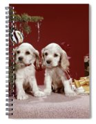 1960s Two Cocker Spaniel Puppies Spiral Notebook