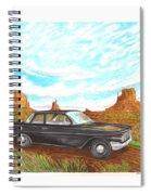 1961 Chevrolet Biscayne 409 In Monument Valley Spiral Notebook