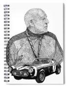 Sir Stirling Moss 1961 Ferrari G T 250 Spiral Notebook