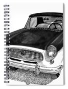 1961 Nash Metro In Black White Spiral Notebook