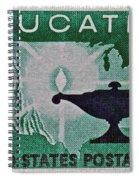 1962 Higher Education Stamp Spiral Notebook