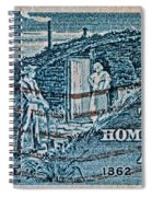 1962 Homestead Act Stamp Spiral Notebook