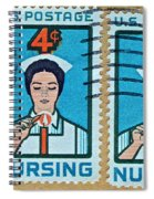 1962 Nursing Stamp Collage - Oakland Ca Postmark Spiral Notebook