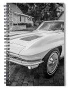 1963 Chevy Corvette Coupe Painted Bw    Spiral Notebook