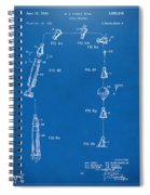 1963 Space Capsule Patent Blueprint Spiral Notebook