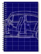 1963 Volkswagon Beetle Blueprint Spiral Notebook