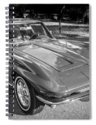 1964 Chevy Corvette Coupe Bw Spiral Notebook