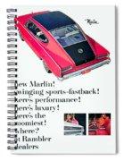 1965 - Rambler Marlin - Automobile Advertisement - Color Spiral Notebook