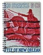 1965 Battle Of New Orleans Stamp Spiral Notebook