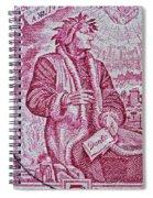 1965 Dante Anniversary Stamp Spiral Notebook