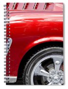 1965 Ford Mustang Really Red Spiral Notebook