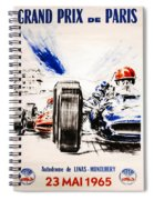 1965 Grand Prix De Paris Spiral Notebook