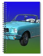 1965 Mustang Convertible Spiral Notebook