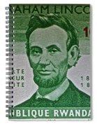 1965 Rwanda Abraham Lincoln Stamp Spiral Notebook