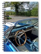 1966 Convertible Mustang On Tour In The Cotswolds Spiral Notebook