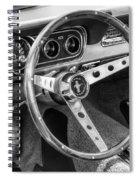 1966 Mustang Dashboard Bw Spiral Notebook