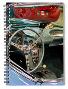 1967 Blue Corvette-interior And Wheel Spiral Notebook