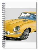 1967 Jaguar X K E Coupe Spiral Notebook