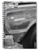 1967 Plymouth Belvedere Gtx 440 Painted Bw   Spiral Notebook
