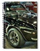 1967 Pontiac Firebird 400 Reverse Selective Color Spiral Notebook