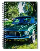 1968 Bullitt Mustang Spiral Notebook