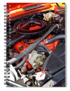 1969 Chevrolet Camaro Rs - Orange - 350 Engine - 7567 Spiral Notebook
