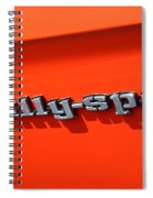 1969 Chevrolet Camaro Rs - Orange - Side Rs - 7562 Spiral Notebook