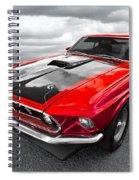 1969 Red 428 Mach 1 Cobra Jet Mustang Spiral Notebook