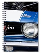 1969 Z28 Camaro Real Muscle Car Spiral Notebook
