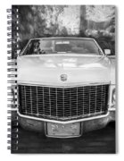 1970 Cadillac Coupe Deville Convertible Painted Bw Spiral Notebook