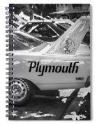 1970 Plymouth Road Runner Hemi Super Bird Bw Spiral Notebook