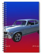 1971 Chevy Nova S S Spiral Notebook