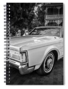 1971 Lincoln Continental Mark IIi Painted Bw   Spiral Notebook
