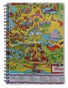 1971 Original Map Of The Magic Kingdom Spiral Notebook