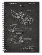 1972 Chris Craft Boat Patent Artwork - Gray Spiral Notebook