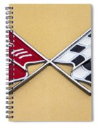 1972 Corvette Crossed Flags Spiral Notebook