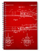 1975 Space Vehicle Patent - Red Spiral Notebook